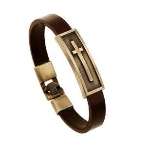 Jewelry - Jesus' Crucifix Leather Bracelet